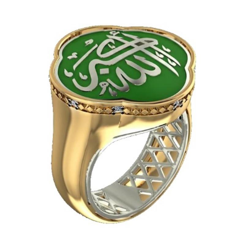 Мусульманский перстень с эмалью